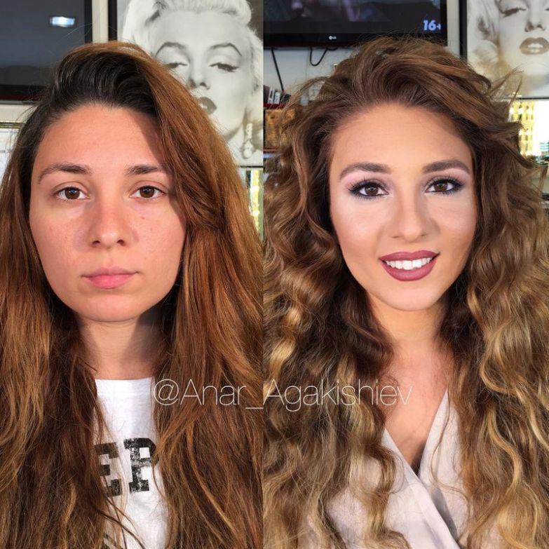Азербайджанский стилист делает женщин моложе на десятки лет при помощи макияжа визажист, до и после, макияж