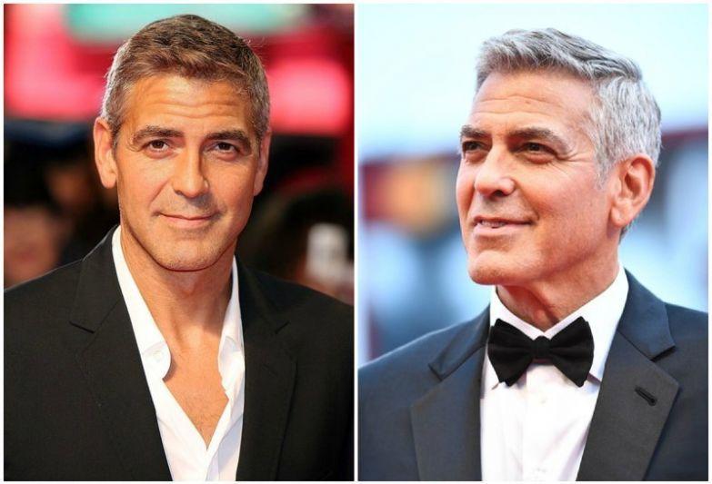 Джордж Клуни актеры, звезды, знаменитости, кино, красная дорожка, подборка, тогда и сейчаc, фото