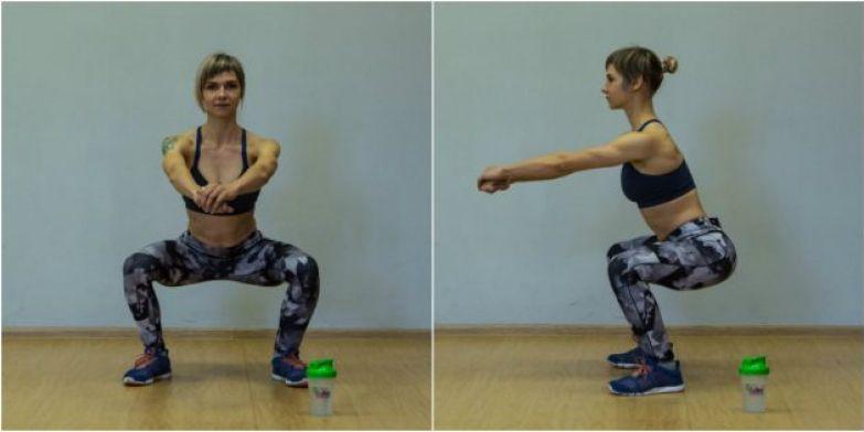 Упражнения для коленей: Приседания