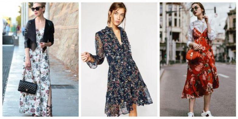 Самые модные платья 2018 года: Цветы