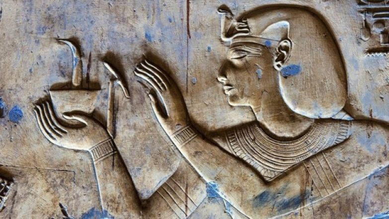 Relief in Temple of Seti I, Abydos, Egypt
