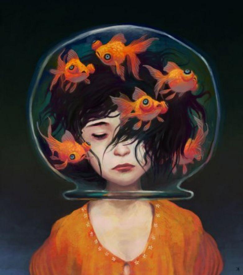 Картинки по запросу голова в аквариуме
