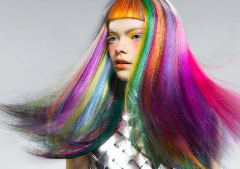 Радуга на волосах: как без вреда покрасить волосы ребенку в яркие цвета   ROZETKA Journal