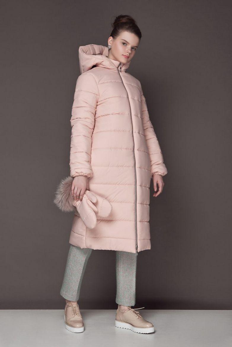 розовый дизайнерский пуховик зима 2017