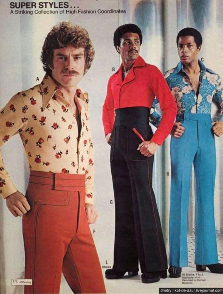 Мужская мода 70-х