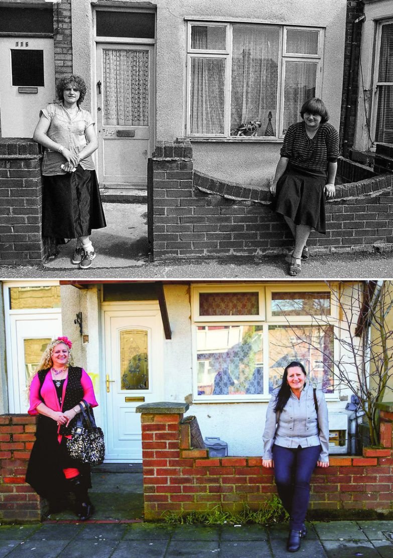 Фотограф разыскал незнакомцев и воссоздал старые снимки, которым почти 40 лет