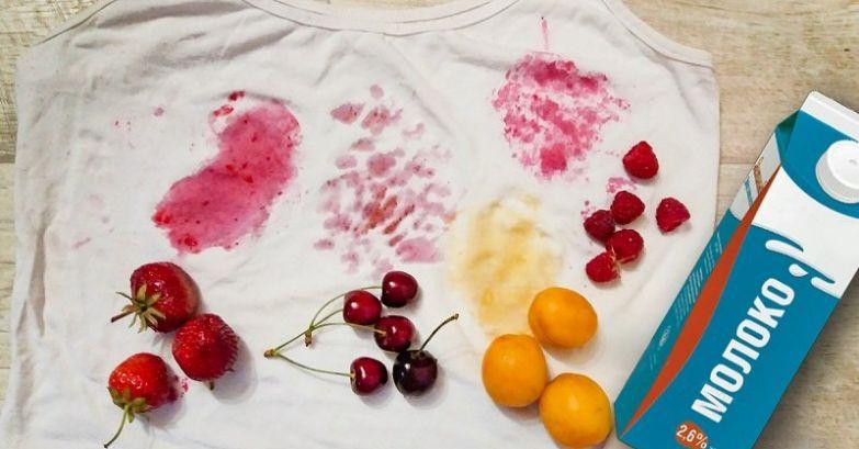 сок на футболке
