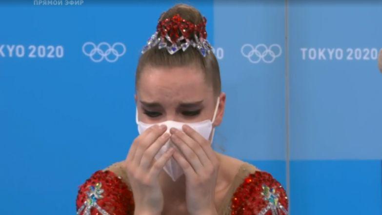Слезы гимнастки Дины Авериной после оглашения результатов в финале Олимпиады. Спорт-Экспресс