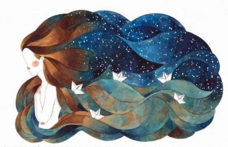 Женщина с океаном в волосах и трудности