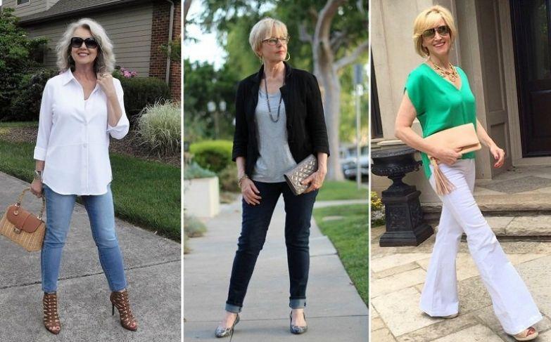 джинсы для женщин 50 лет фото