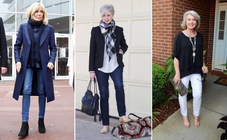 джинсы для женщин за 50