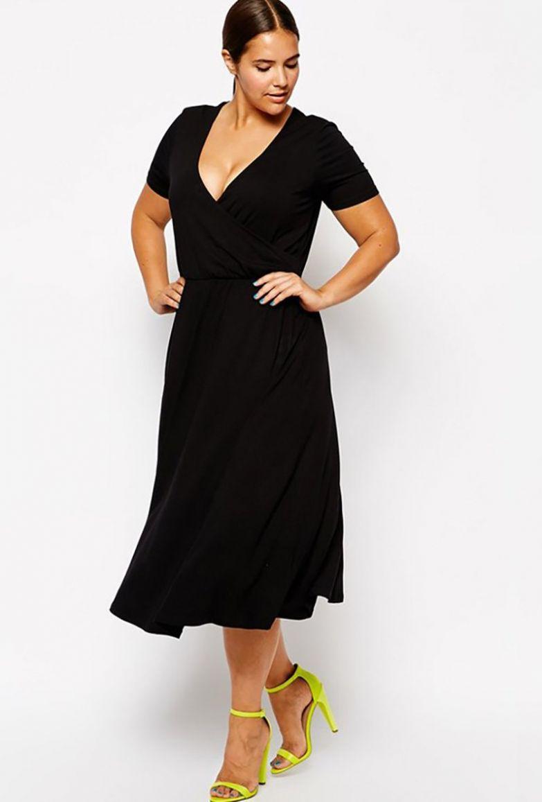 фасоны платьев для полных женщин с фигурой яблоко