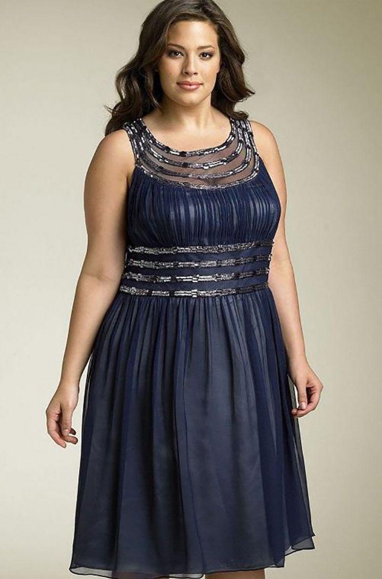 фасоны платьев для полных невысоких женщин
