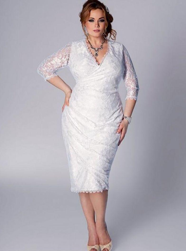 стильные фасоны платьев для полных женщин