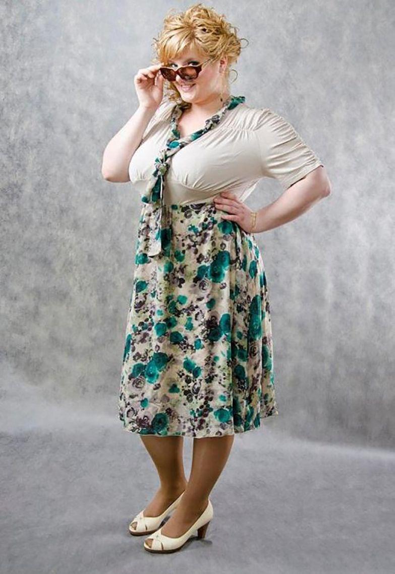 фасоны платьев из трикотажа для полных женщин