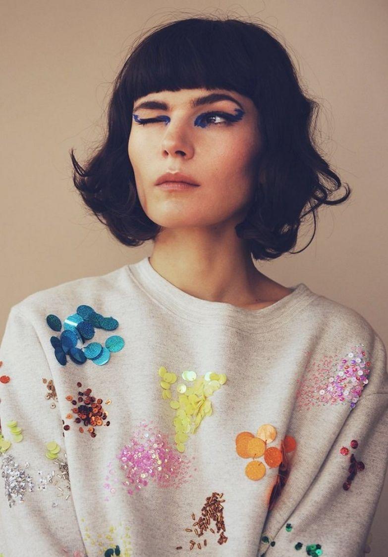декор свитера бисером