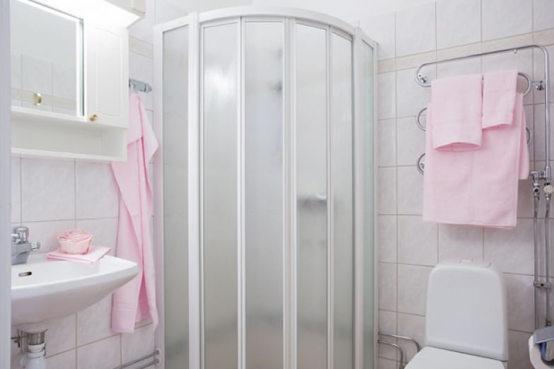 Фотография: Ванная в стиле Скандинавский, Малогабаритная квартира, Квартира, Дома и квартиры, Стокгольм – фото на InMyRoom.ru
