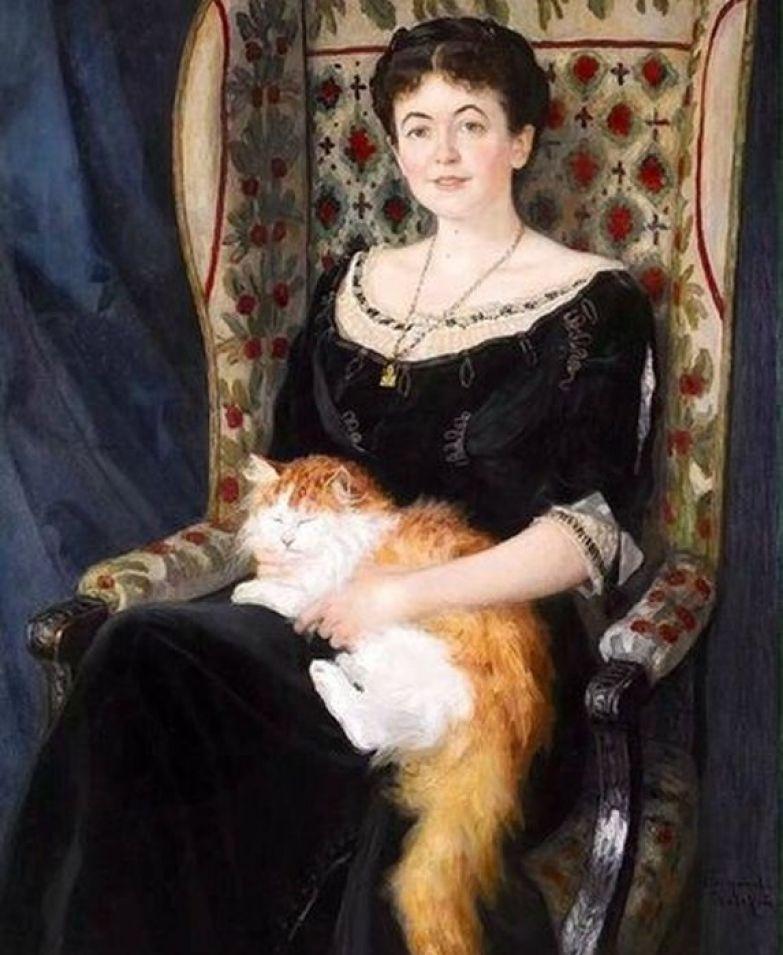 Богданов-Бельский Н. П. (1868-1945). Женский портрет.