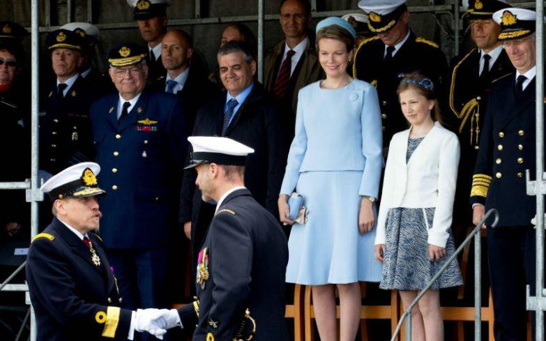 Принцесса Елизавета на церемонии «крещения» корабля.