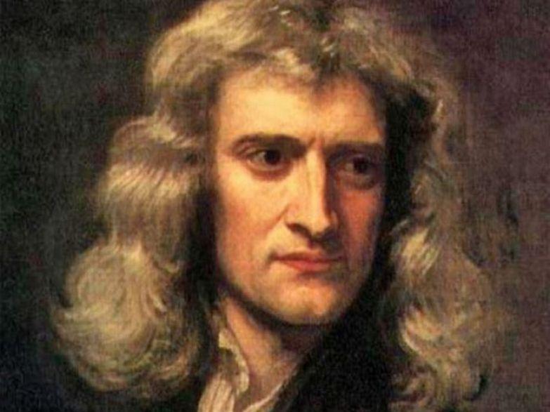 Портрет Исаака Ньютона (1642-1727). Художник Баррингтон Брамли