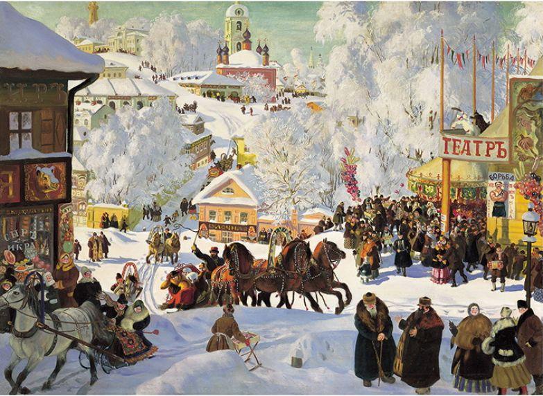 Кустодиев Б.М. Масленица. (1919 г.).