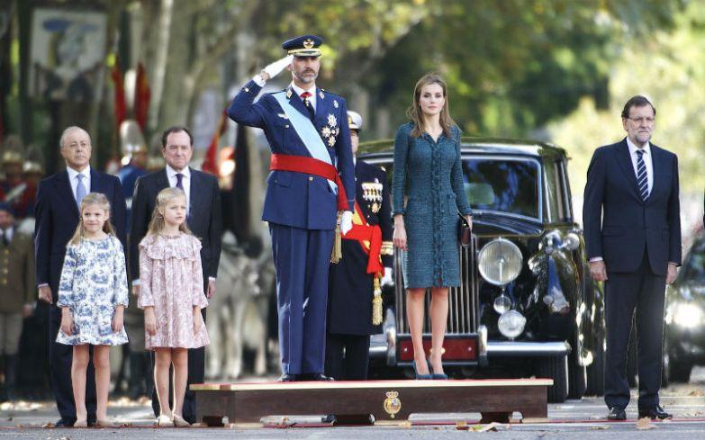 Король Испании Филипп VI и королева Летисия с дочерьми