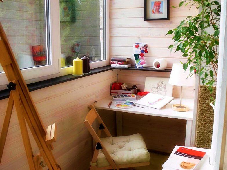 Детская комната кабинет на балконе фото
