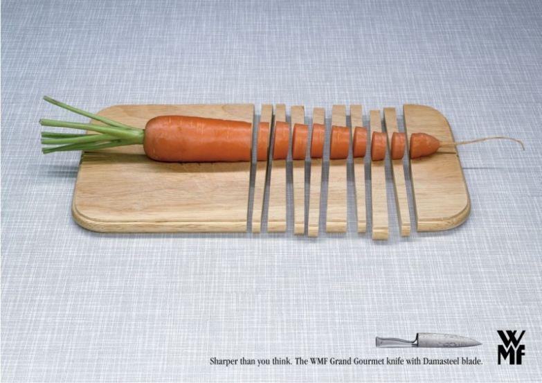 12. Иногда ножи бывают такими острыми, что для готовки понадобится металлическая доска интересно, креативная реклама, рекламные, трюки