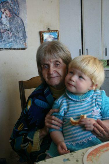 Елена Георгиевна Орановская с внучкой