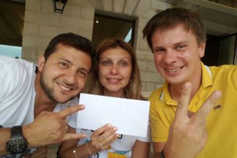 Зеленские с телеведущим и путешественником Дмитрием Комаровым