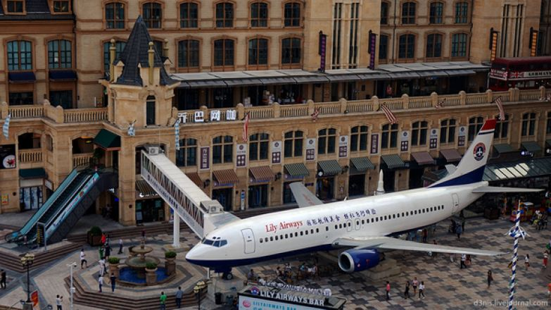 Ресторан внутри самолёта самолет, ресторан, китай, Интересное, длиннопост, Boeing 737