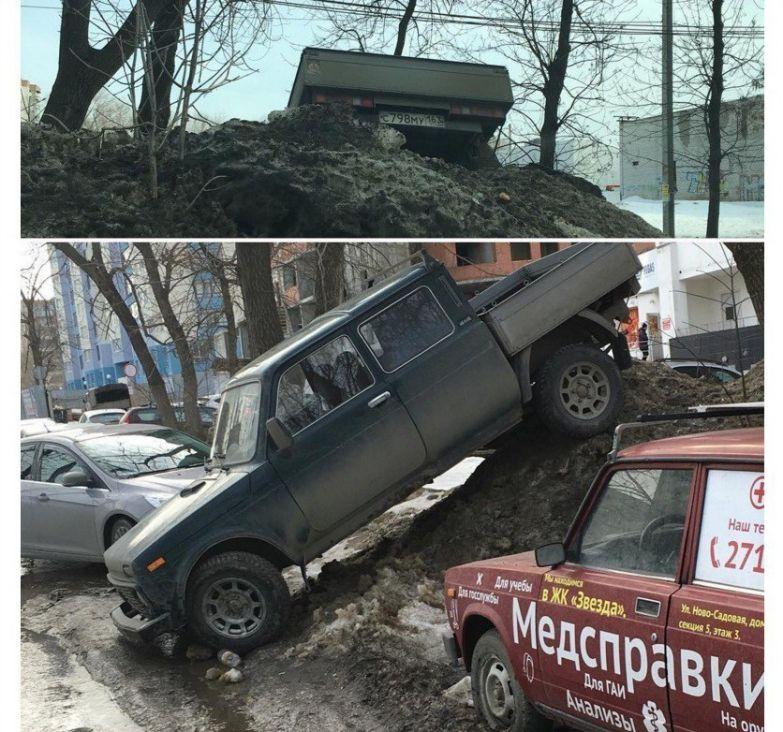 Суровость здешних автомобилистов зашкаливает прикол, россия, самара, юмор