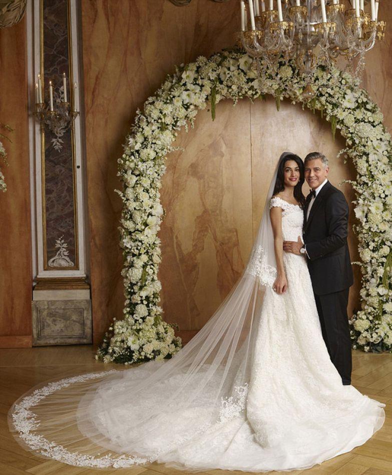 Амаль и Джордж Клуни в день свадьбы (2014)