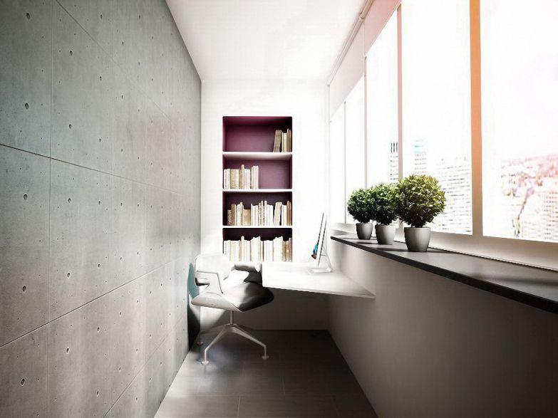 Кабинет на балконе в стиле модерн фото