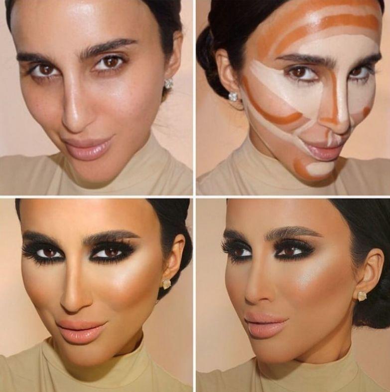 12. У этой девушки скулы и так выделяются, но с помощью контурирования эффект можно усилить до и после макияжа, контуринг, макияж