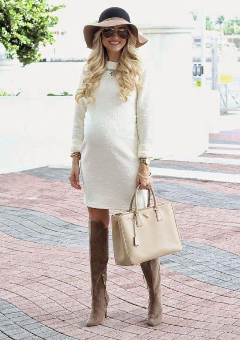 Как красиво одеться беременной осенью 9