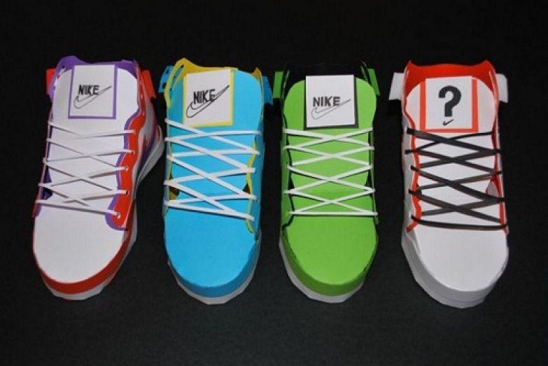 В одноразовой копии кроссовок Nike вполне можно ходить, главное, не в сырую погоду. Автором чудо - кроссовок является David Brownings.