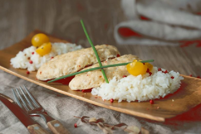 курица рис фото