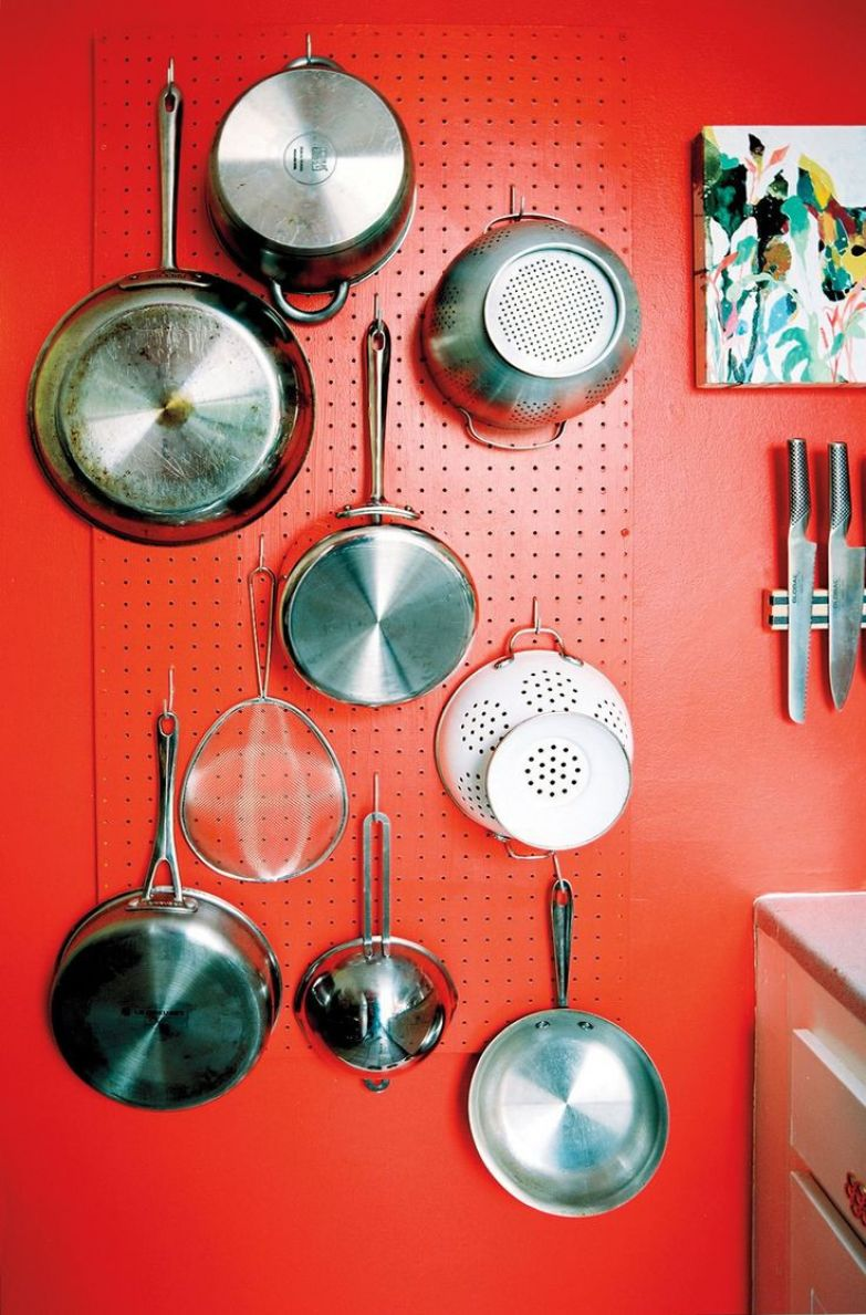Место для хранения сковородок дизайн, полезное, совет