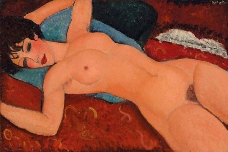 «Лежащая обнаженная», Амедео Модильяни