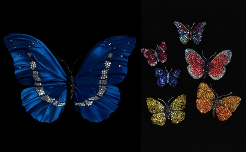 Бабочки - один из любимых мотивов ювелира. Сильнее он любит лишь цветы...