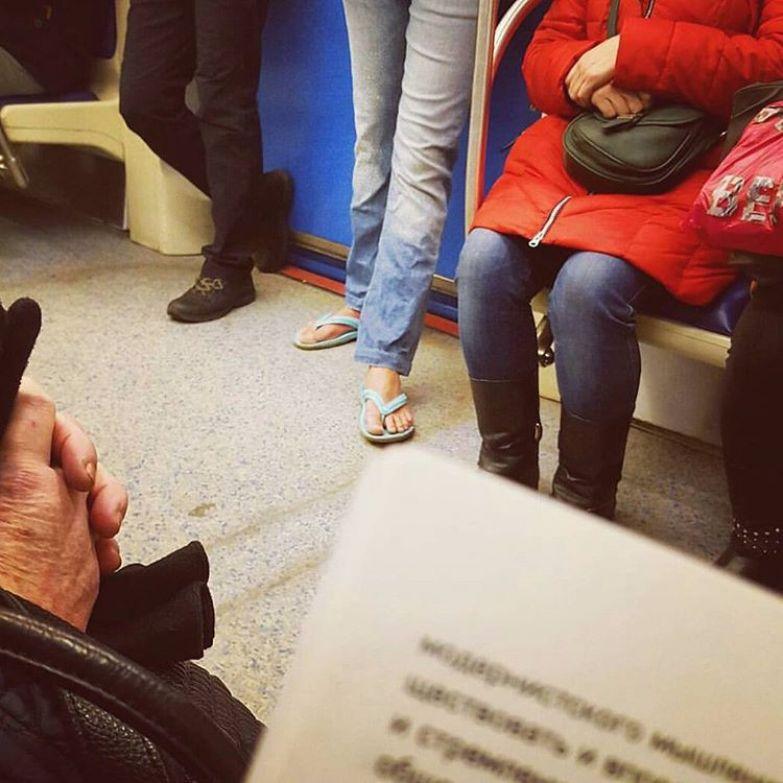 6. Закаленная особа люди, метро, мода, настроение
