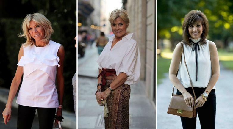 модная одежда для женщин за 50 лет