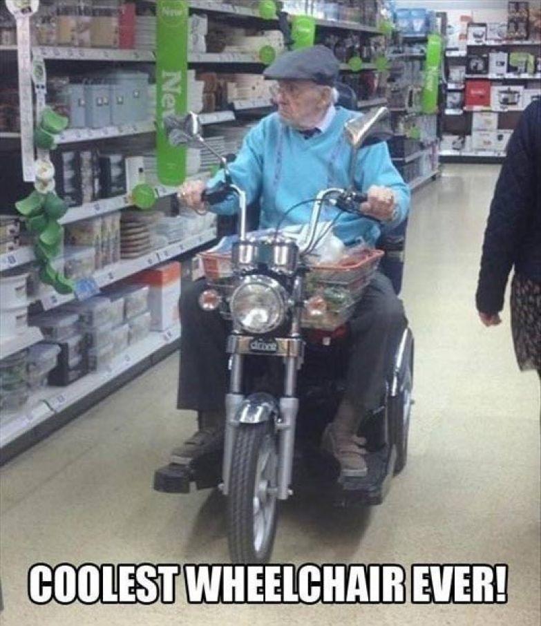 Байкер - до старости байкер! приколы, смелость города берет, уверенность, фото