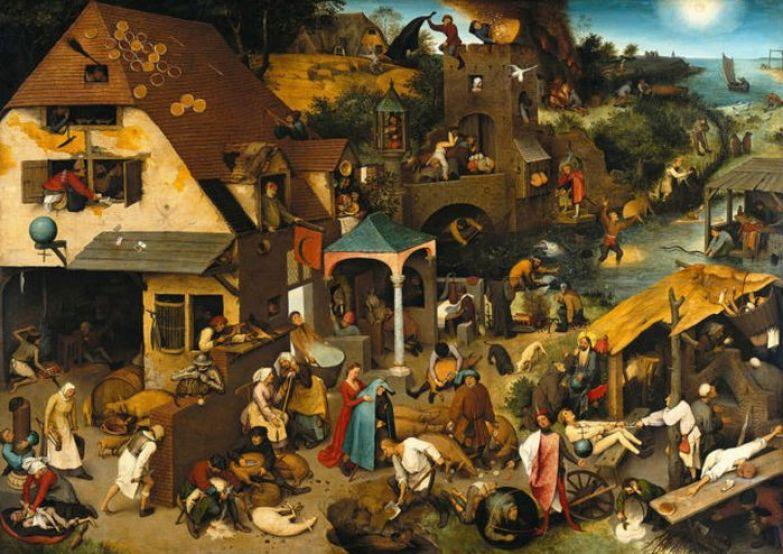 Питер Брейгель Старший, «Фламандские пословицы».