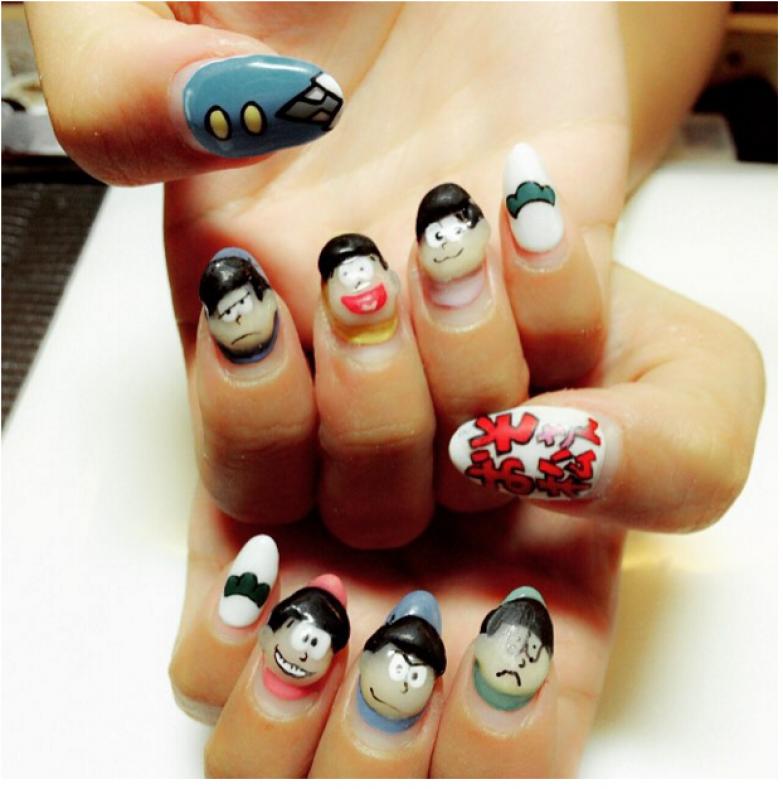 Вот это, например, работа салона красоты Colors Beauty Salon в районе Сибуя, Токио искусство, красота, маникюр, ногти