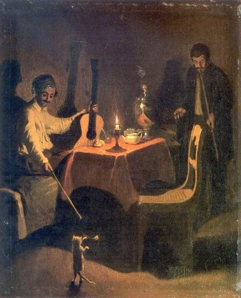 Павел Федотов. Офицер и денщик. 1850 год.