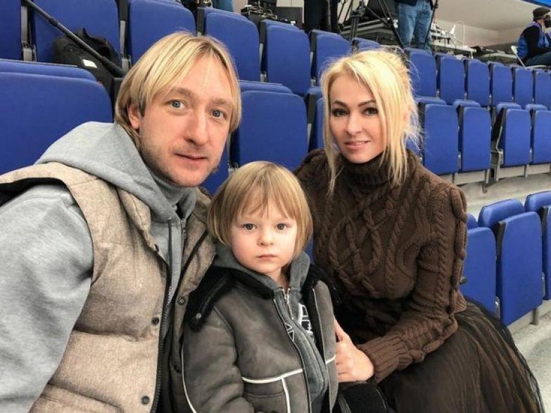 Евгений Плющенко, Саша Плющенко и Яна Рудковская