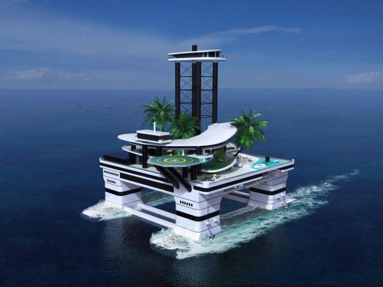 Яхты – вчерашний день. Теперь в моде у миллиардеров передвижные частные острова богатые люди, яхты