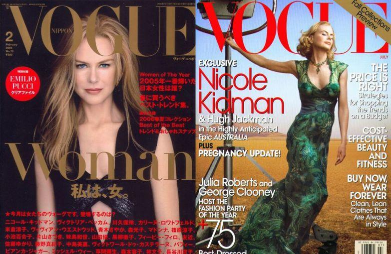 Vogue Япония, февраль 2006; Vogue US, июль 2008